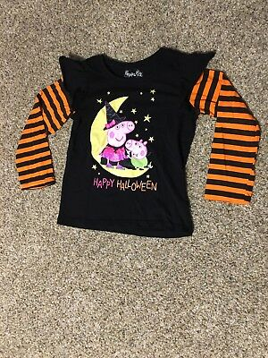 Peppa Pig black and orange Halloween shirt - Size 5T