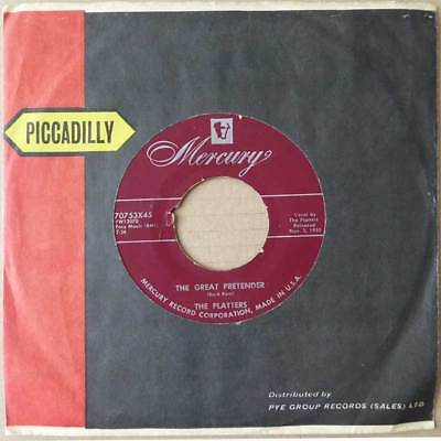 """7"""" The Platters - The Great Pretender - USA 1955 - VG+"""