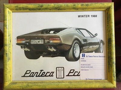 DeTomaso Pantera Print in Frame with owner card