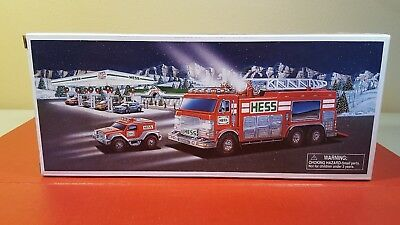 2005 Hess Truck Emergency Fire Truck With Rescue Vehicle - MINT IN BOX