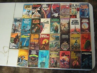 Science Fiction Paperback Books Lot Of 30 Vintage Sci Fi Lot #4