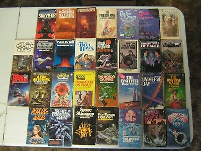 Science Fiction Paperback Books Lot Of 30 Vintage Sci Fi Lot #6