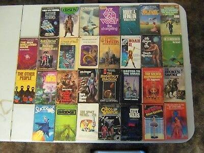 Science Fiction Paperback Books Lot Of 30 Vintage Sci Fi Lot #7
