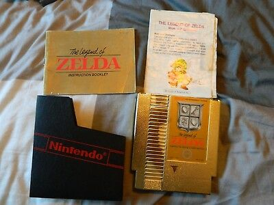 Nintendo Nes The Legend Of Zelda With Booklet, Canada Free Shipping