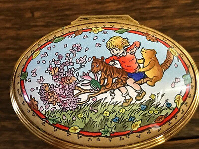 "Winnie-The Pooh ""time With Friends"" Halcyon Enamel Box Limited Edition 28/250"