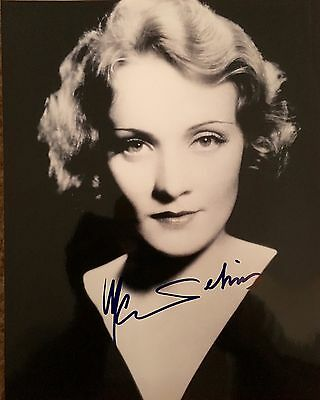 Used Marlene Dietrich  autographed 8x10 photo. See photos for details.