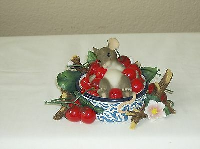 """Fitz and Floyd Charming Tails """"Life is a Bowl Full of Cherries"""""""
