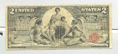 $2 Series 1896 Educational Silver Certificate, nice circulated example Very Good