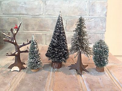 Department 56, Assorted Trees, set of 5