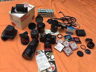 LOOK Asahi Pentax ESII ES2 with 6 lenses and more!