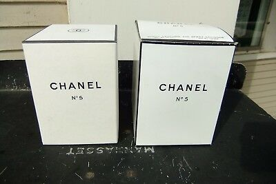 Chanel No 5 2-Piece Empty Boxes for Spray Perfume & Spray Cologne