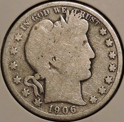 Barber Half - 1906-S - Historic Silver! - $1 Unlimited Shipping