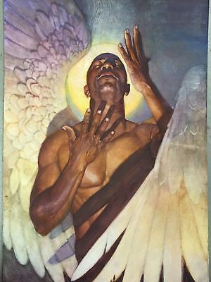 Thomas Blackshear Hand Signed Awakening Canvas Limited Edition Black Art Print