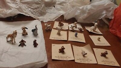 Hagen-Renaker miniatures. Some are crazed as they were all bought in the 80s.