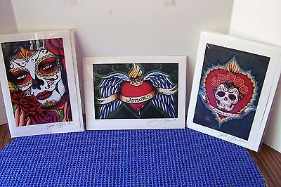 Lot of Three (3) John S. Huerta Greeting Card with Envelope Signed Amor Eterno