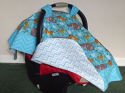 **LION KING/LION GUARD** w/chevrons Handmade Baby Infant Car Seat Canopy-Cover