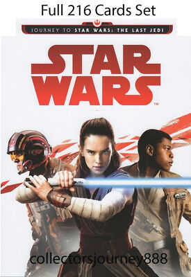 Star Wars Journey to The Last Jedi (Topps 2017) Trading Cards - 216 cards Set