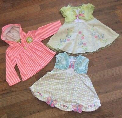 Baby Girl Clothes Lot 24 Months - 2 dresses & zip up hoodie