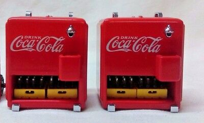 Two Coca Cola Miniature Coolers with 2 cases of bottles