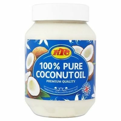 KTC 100% Pure Coconut Oil Cooking Hair & Skin Care Multipurpose 500ml UK Seller