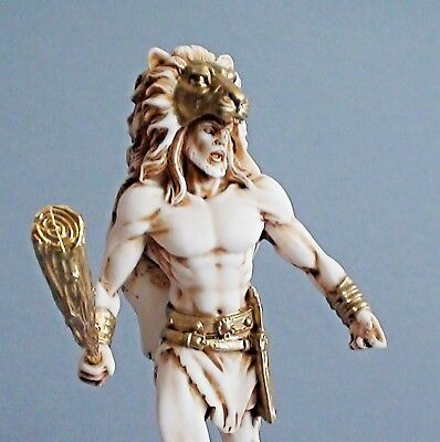 Hercules Statue Ancient Greek Mythology Movie Hero Aged Vintage Style Sculpture