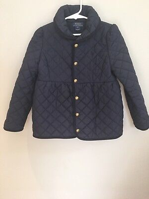 Polo Ralph Lauren size 6X girls navy quilted jacket