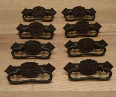 Lot of 8 Antique Eastlake Drawer Pulls Victorian Reclaim Salvage Restoration WOW