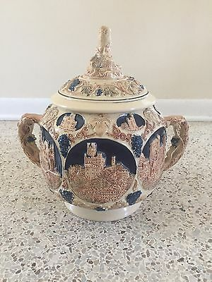 Vintage German Castles On The Rhine Punch Bowl/Soup Tureen
