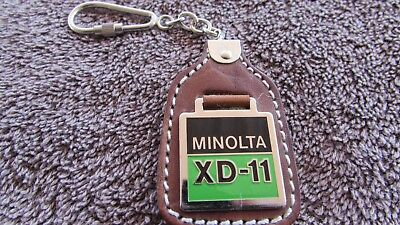 Very Cool Vintage Minolta Xd-11 Camera Advertising Leather Key-Ring