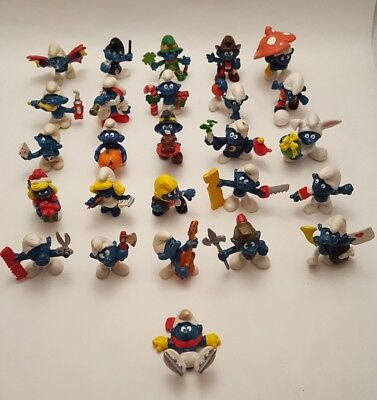 Lot of 26 Vintage Smurf Figurines (Late 70's & Early 80's)