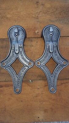 2 Matching Allith Prouty No. 2  Cast Iron Barn Door Hanging Rollers