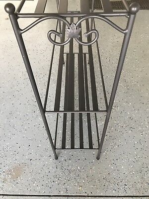 LONGABERGER BOOKCASE 3-Tier with Black Wrought Iron Basket Stand