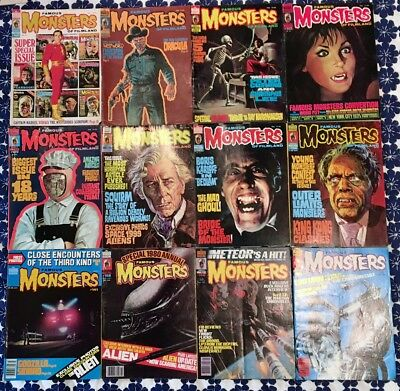 VINTAGE Lot 23 Issues FAMOUS MONSTERS OF FILMLAND MAGAZINES  - VG+/EX