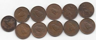 11 One Farthing Coins (earliest 1918, latest 1956)...99 cents opening...NR!