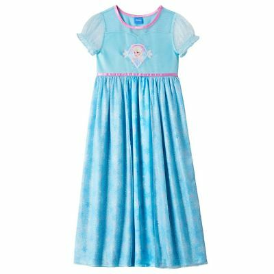 Disney Princess Frozen Elsa Girls Size 8 Dress-Up Nightgown Pajama Costume NWT