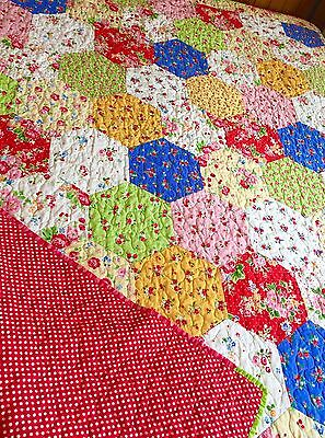 Patchwork Quilt Handmade Single Bed Out Of Print Pam Kitty Fabrics New Childrens