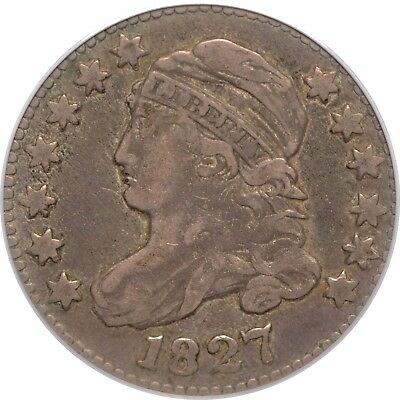 1827 Capped Bust Dime - PCGS(CAC) VF30 - JR-7 R3 - Sweet Coin!