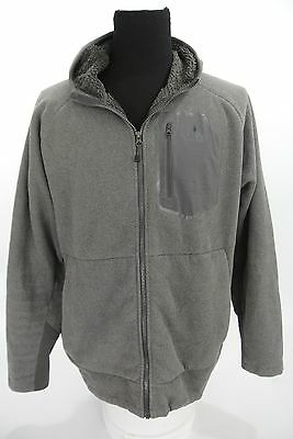 The North Face Chimborazo Hoodie Gray Full Zip Fleece Jacket A33W - XL