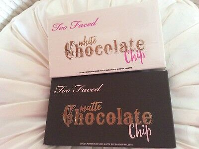 Too Faced Eyeshadow Palette. Matte Chocolate Bar  &white Chocolate Chip .bogof.