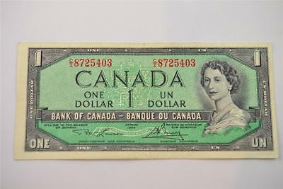 1954 Bank Of Canada $1 One Dollar Bill. C/i8725403. Free Combined Shipping