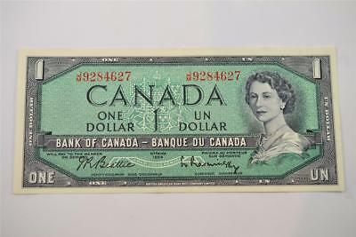 1954 Bank Of Canada $1 One Dollar Bill. J/m9284627. Free Combined Shipping