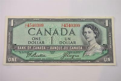 1954 Bank Of Canada $1 One Dollar Bill. O/l4540309. Free Combined Shipping