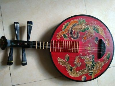 Classic Rare Chinese wooden musical instrument yu-kin lute