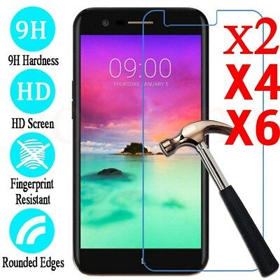 2/4/6PC Lot 9H Premium Tempered Glass Screen Protector For LG K3 K4 K8 K10 2017