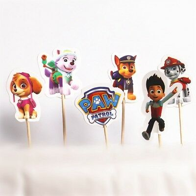 Paw patrol Party Cupcake Toppers Birthday Party Set of 24 pcs