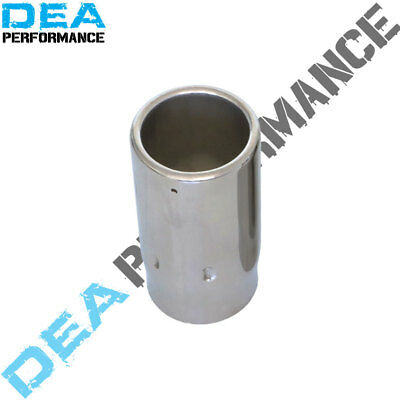 Exhaust Tip Straight Cut Rolled-In Stainless Out 2 3/4'' In 2 1/2'' Length 5''