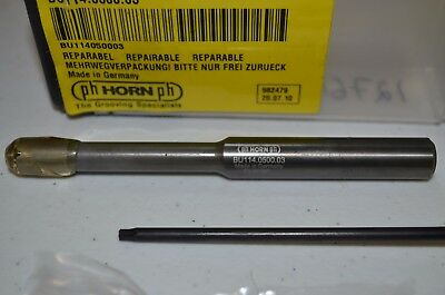 """BU114.0500.03 PH HORN 1/2"""" Indexable Carbide Grooving/Boring bar with 4 Inserts"""
