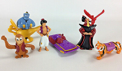 Vintage 1992 Aladdin Action Figures Burger King Toys Cake Toppers Loose Lot of 6