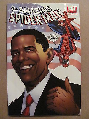 Amazing Spider-Man #583 Marvel Comics 1963 Series Obama 4th Print Variant 9.4 NM