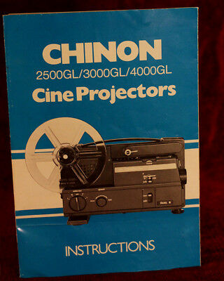 Chinon 2500Gl/3000Gl/4000Gl Projector Owner Manual In Color